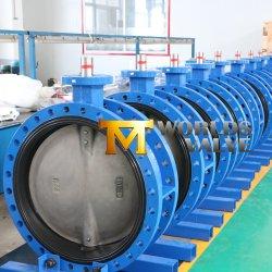 Sedile sostituibile/rivestimento interno allentato valvola a farfalla con doppia flangia di collegamento con guarnizione in gomma EPDM/NBR per acqua di Tianjin Worlds Valve Co., Ltd