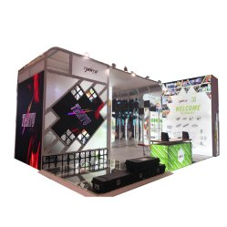 Cabine de exposições de alumínio personalizada de 6x6m Trade Show Exibir Expo está