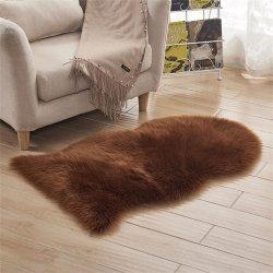 Pelz-künstliche Schaffell-haarige Teppich-Kind-Wolldecke-Haut-Pelz-Ebenen-flaumiger Bereichs-Wolldecke-waschbarer Wohnzimmer-Schlafzimmerfaux-Bodenbelag
