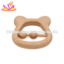W08K285 طفل طبيعي بالجملة خشخشة خشبية لمدة 6 أشهر