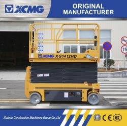 Fabricant de XCMG mobile plate-forme de levage de type ciseaux XG1412HD 14m de la Chine de petits ciseaux de l'échelle de la table élévatrice hydraulique Prix de la plate-forme