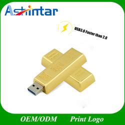 USB3.0 металлический флэш-накопитель USB флэш-памяти Gold бар флэш-диска USB