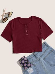 Оптовая торговля Slanna дешевых печатных многоцветный короткие втулки верхней части культуры Bodycon трикотажные моды Sexy T футболки на заказ