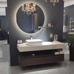 Hotel moderno de armazenamento mobiliário LED de parede de madeira do espelho armário de banheiro