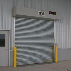 Incêndio Exterior industrial à prova de fogo com resistência nominal ao fogo o rolo automático de segurança contra incêndio até a sobrecarga de energia de alumínio metálico do rolete de giro do veículo do obturador da porta da garagem