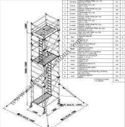 Coffre-fort Ce tour d'échafaudage en aluminium approuvé pour la décoration