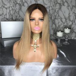 De echte Braziliaanse Ruwe Maagdelijke Onverwerkte Kleurstof van het Haar van de Blonde van de Pruik van het Menselijke Haar