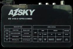 GPRS 및 DVB-S를 사용하는 Azsky G2 Dongle, 아프리카 동글용 수신기 콤보