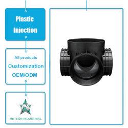 Des pièces industrielles personnalisé raccord de tuyauterie en plastique de raccord en T de coude de moulage par injection plastique