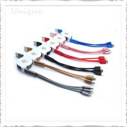 O logotipo personalizado 3 em 1 USB Multi Carregador Cabo de dados com 8 pinos/Android Market/Tipo C ficha para a promoção das dádivas