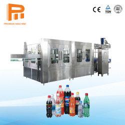 Kann schlüsselfertige Projekt-Plastikflasche kohlensäurehaltige Getränk-Füllmaschine/funkelndes Wasser-Saft CSD-Glasgetränkeflüssiger abfüllender Produktionszweig Pflanze