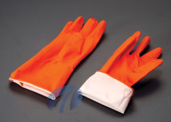 11mil Flocklined jaune ménage des gants en latex