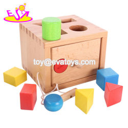 Il migliore cubo del Amazon gioca la figura di legno che ordina l'attività per il bambino W12D102