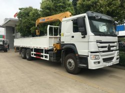판매를 위한 망원경 기중기 폴더 기중기를 가진 최고 판매 Sinotruk HOWO 6X4 기중기 트럭