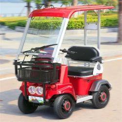 黄色 / 赤色 / ホワイト 4 ホイール電気スクーター車両ゴルフ車両 CE 証明書