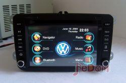 عرض ترويجي! 7 بوصة في سيارة شرطة صوت سيارة مشغل دي في دي GPS الملاحة الترفيه + Bluetooth لجهاز iPod خاص Vw B6 / Bora 09 / Golf GTI/Gli