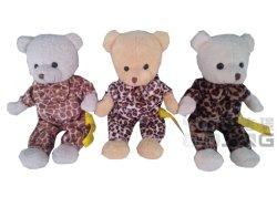 Giocattoli su ordinazione della peluche dell'orso dell'orsacchiotto dei vestiti del leopardo di modo