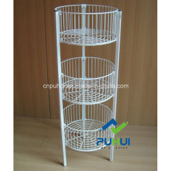 店の大きさの商品3層の円形の昇進の大箱のバスケット(PHY505)