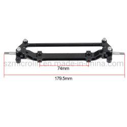 RC Toys Car Parts Black Metal Front Axle Steering Link Tamiya 1/14 RC 트랙터 트럭용 로드