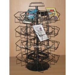 Comptoir Boutique de support du fil de fer Frame 32 poches d'affichage CD rotatif Rack (PHY180)