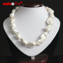18-20mm Supper Large Baroque Freshwater Pearl Necklace per Women (E130133)