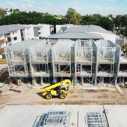 A estrutura de aço do prédio de apartamentos Typhoon resistência dos edifícios de apartamentos