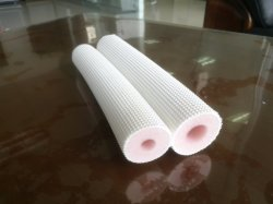 Dos capas de aislamiento de espuma de PE en relieve de doble tubo de piel para acondicionadores de aire