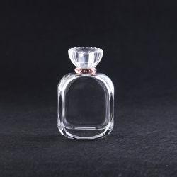 Bouteille de parfum d'emballage cosmétique de gros contenants de maquillage des bouteilles de parfum bouteille en verre clair avec brouillard la pompe du pulvérisateur