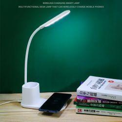 accessoires pour téléphones mobiles personnalisées de fournisseur d'usine Qi 10W Smart Chargeur de téléphone mobile sans fil rapide avec lampe de bureau Porte-plume iPhone12 Xiaomi Huawei etc de la Chine