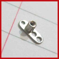 Grad 23 Solid Titanium Single Piece 2/2.5/Mm Post mit 2/3 Hole Dermal Anchors