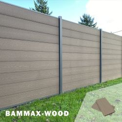 Protégé contre les UV Installation facile Jardin WPC composite d'accueil carte du panneau de clôture