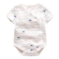 맞춤형 패턴 신생아용 반팔 유아용 주핏