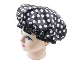 À prova de touca de cabelo de Dupla Camada Pac Chuveiro reutilizáveis Hat faixa elástica para as mulheres com banho de chuveiro spa tampa de Óleo Quente14101 ESG
