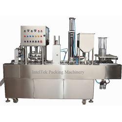 Caixa de alumínio automática de Vedação Gatos carne produtos de Marisco de enchimento do recipiente e máquina de Vedação