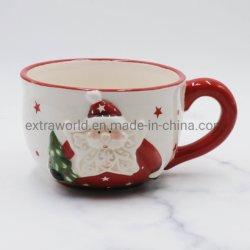 Großhandel Dolomite Keramik Handgefertigte Malerei Weihnachten Kaffee Tasse