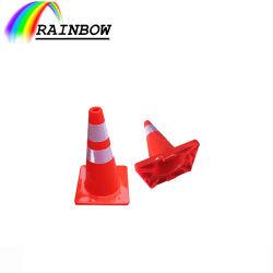 Preço razoável segurança rodoviária laranja/amarelo/verde limão flexíveis de plástico de PVC reflexo do Cone de tráfego/cone para estrada