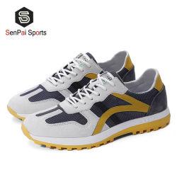 Nuevo diseño de ocio de cuero y el confort zapatillas hombres zapatos casuales