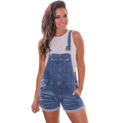 Frauen arbeiten kurzem Denim reizvolle Sommer-Taschen-Hose mit Jeans um