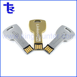 Chave Chave Pendrive unidade flash USB metálica personalizada a chave USB de forma