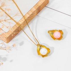 Catena selvaggia semplice della clavicola della perla delle coperture di diamante di temperamento marino creativo della collana