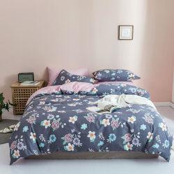 سعر جيد زهرة مريحة 100% القطن الزهور طباعة غطاء اللحاف مجموعة أغطية الفراش من القطن