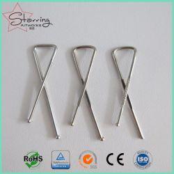 33mm de Zilveren X Gevormde Klem van het Overhemd van het Roestvrij staal voor Verpakking