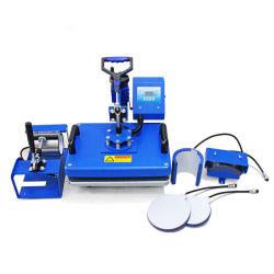 Schutzkappen-Becher-Shirt-Wärmeübertragung-Drucker 6 in 1 Sublimation-Wärme-Presse-Maschine