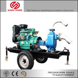 1/6Motor diesel portátil de la centrífuga de la bomba de agua contra incendios