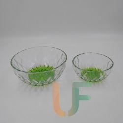 Ciotola di vetro trasparente calda di buona qualità di vendita/ciotola di insalata/ciotola di frutta