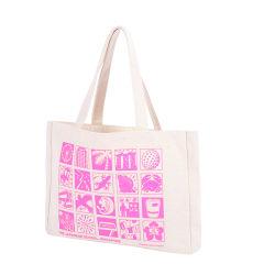 OEM van de douane de Rubber Katoenen van het Canvas van Af:drukken Silkscreen 16oz Dikke Zak van de Totalisator met Etiket