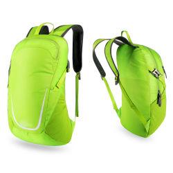 حقيبة رياضية خارجية مقاومة للماء وموجات طويلة من النايلون والمشي لمسافات طويلة حقيبة ظهر قابلة للطي للسفر