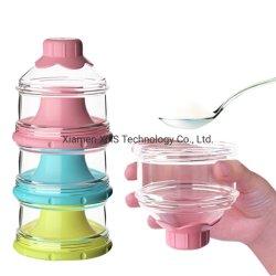 Drei-Schicht Kasten-Imbiss-Frucht-beweglicher Milch-Puder-Säuglingsablagekasten für Baby