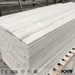Comitato di parete di superficie solido acrilico dell'acquazzone di Corian del reticolo di formati su ordinazione di pietra artificiali di marmo di disegno