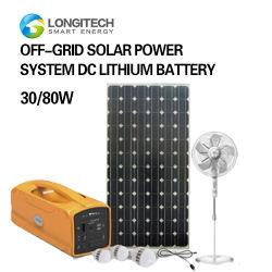 Off-Grid дома солнечной системы питания 30W/16AH DC литиевый аккумулятор солнечной системы солнечная энергия солнечной энергии